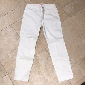 Lily Pulitzer white textured pants